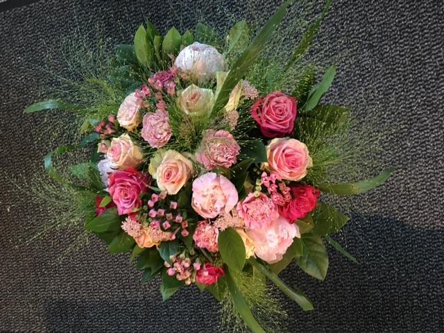 boeketje rozen – roze tinten