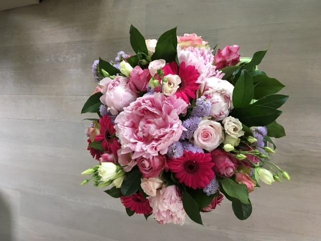 boeketten – pioenrozen – roze tinten